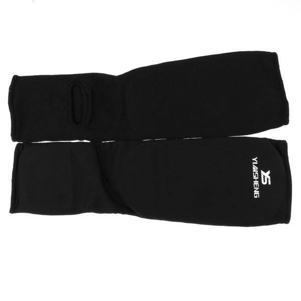 BolehDeals Taekwondo Karate MMA Shin Instep Protector Leg FootGuard Cloth Pad XL Black - intl