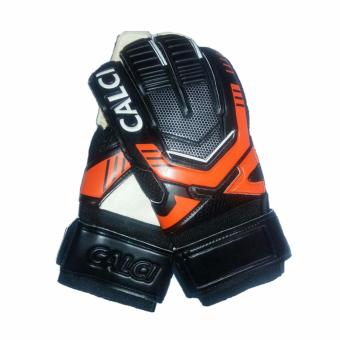 Calci Sarung Tangan Kiper Barca GK Goalkeeper Gloves - Black Orange