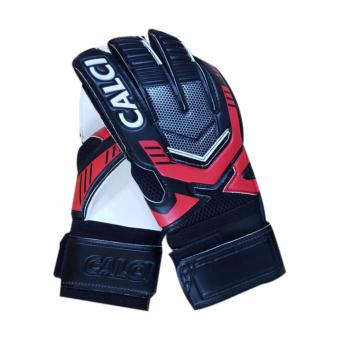 Calci Sarung Tangan Kiper Barca GK Goalkeeper Gloves - Black Red