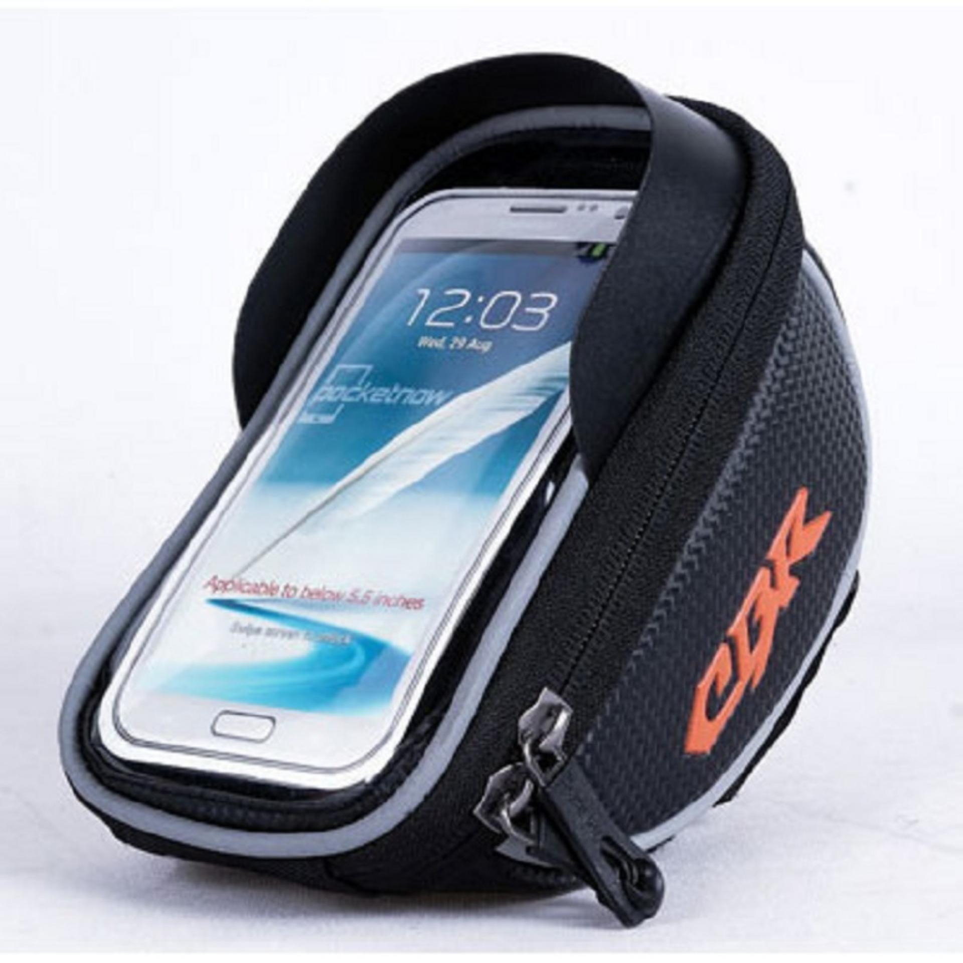 CBR Smartphone Holder Sepeda Ultra Sensitive Touch ScreenWaterproof - Hitam