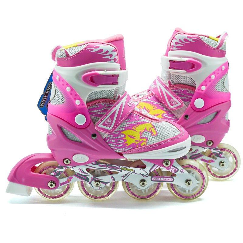 ... Cool Slide Sepatu roda inline Ban Full Karet Pink   Sepaturodainline  skate Ban Full Karet Pink ... 6c87722fd9