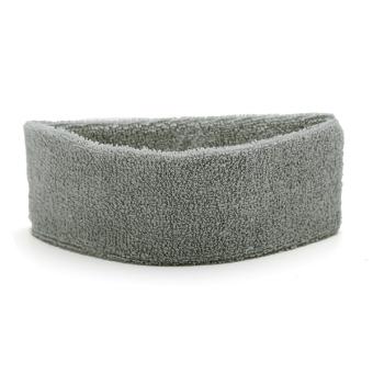 JUAL Cotton Terry Cloth Sweatband Flexible Headband Head Hair AccessorySports Yoga Gray TERLARIS