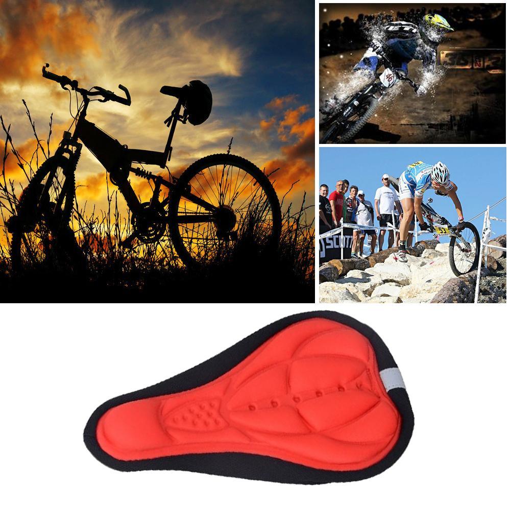 Bersepeda Sepeda Silikon Comfort Penutup Sadel Model Alur Saddle Silicone Mat Seat Cover Empuk Sj0037 Gel Silika Bantalan Pad Lembut Merah