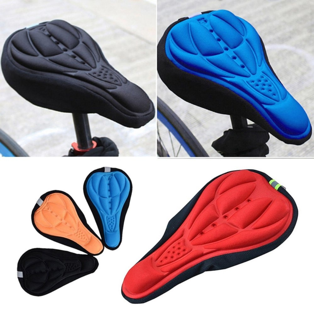 Harga Termurah Cycling Bicycle Mountain 3d Silicone Gel Pad Seat Rockbros Saddle Cover Soft Cushion Blue Intl