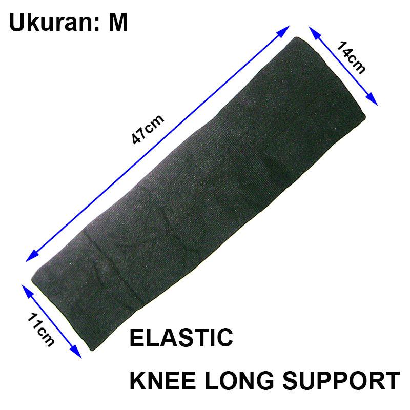 EELIC 2Pcs Knee Long Support untuk aktifitas Olahraga - sepertiBasket - Futsal - Hiking 667 ELASTIC M