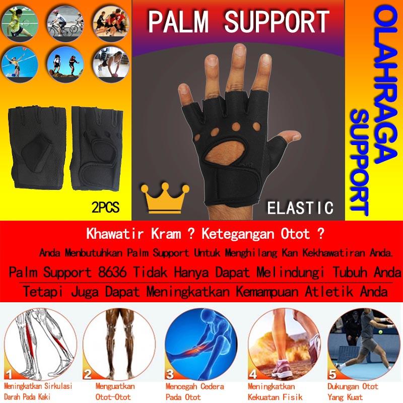 EELIC 8636 Palm Support (Sarung Tangan) Untuk Fitness Dirancang dan dibuat khusus untuk pengaman olahraga