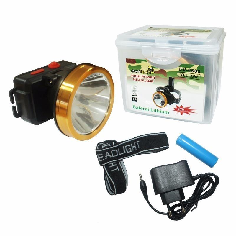 EELIC LAS-E6600 HITAM LAMPU SENTER KEPALA 10 WATT CAHAYA KUNING