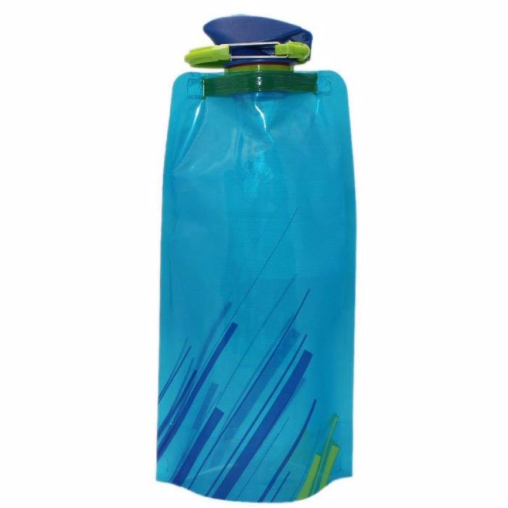 Eigia Botol Minum Lipat Camping Hiking Adventure Outdoor Biking Sport s3343 700ml - Biru