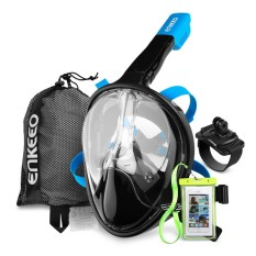 Enkeeo Full Face Snorkel Mask with 180° Panoramic View M - intl