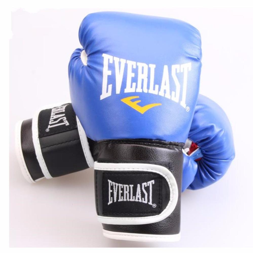 EVERLAST tinju profesional Muay Thai pelatihan sarung tangan 6oz (biru)