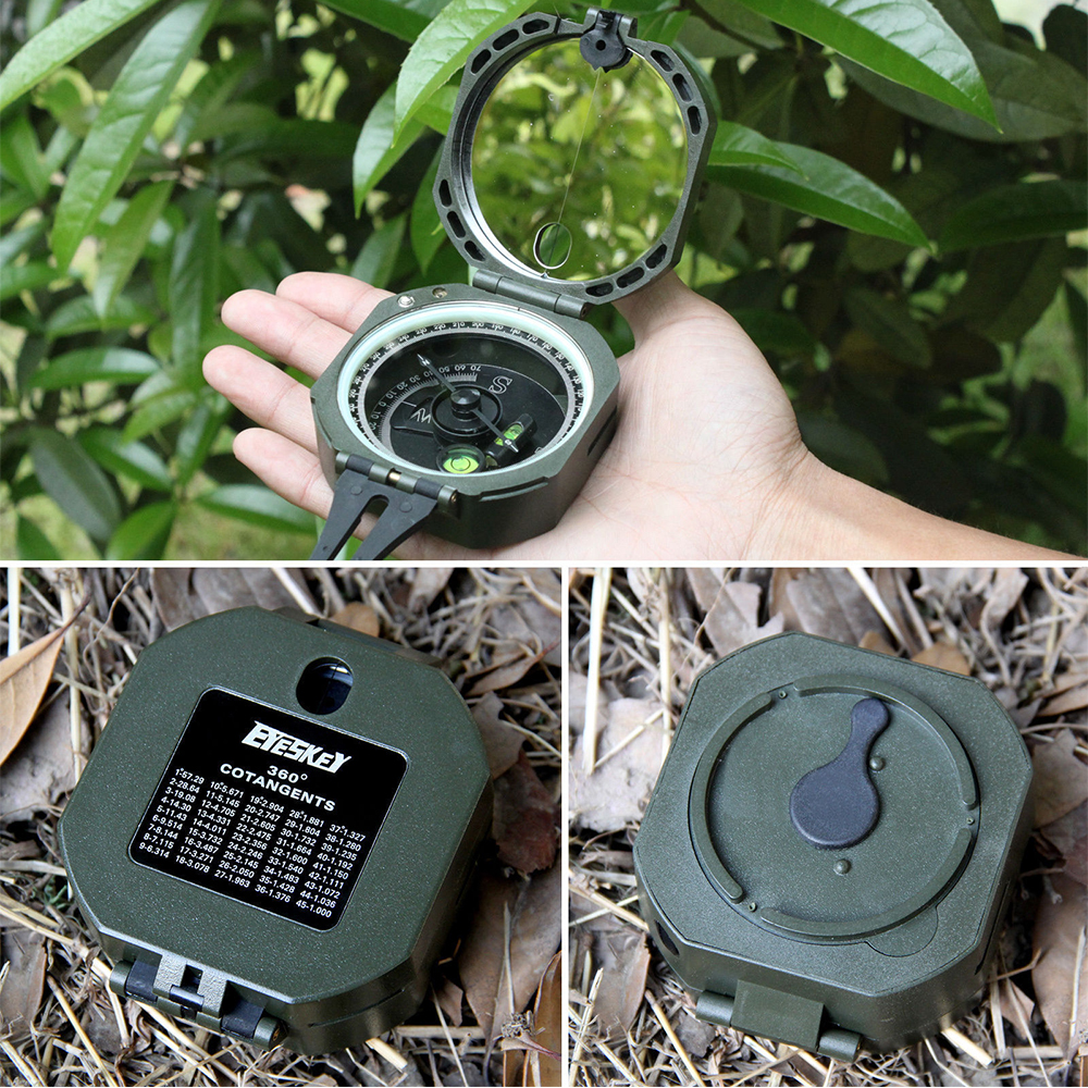 Eyeskey Transit ringan saku kompas geologi untuk surveyor rimbawanberkemah di luar ruangan peralatan Survival murah