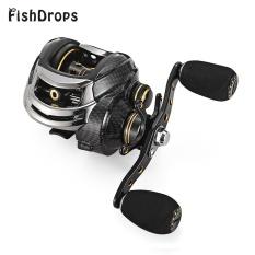 FISHDROPS LB200 7.0:1 Baitcasting Reel 18 Ball Bearing Carp Fishing Left Right Hand Bait(Left Hand) - intl