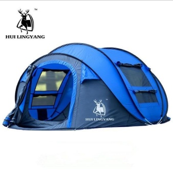 Harga HOT outdoor automatic tents throwing pop up waterproof camping hiking tent waterproof large family tents - intl