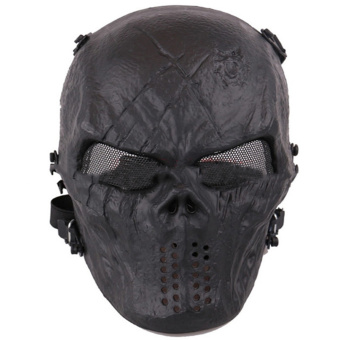 Harga Camouflage Hunting Accessories Ghost Tactical Outdoor Military CS Wargame Airsoft Skull Full Face Mask 1C - intl
