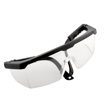 Harga New Eye Protection Clear+Black Goggles Glasses From Dust Paint Anti Fog