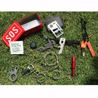 Harga Portable SOS Tool Kit Earthquake Emergency Onboard Outdoor Survival