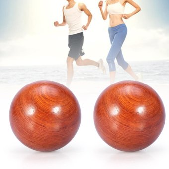 Harga 1Pc Health Exercise Baoding Balls Wooden Massage Stress Relief Sports Ball (5cm) - intl