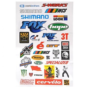 Harga Personality Bicycle Decal Sheet Sticker Crank