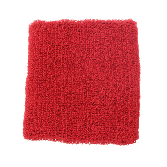 Harga Unisex Soft Cotton Sports Sweat Band Wristband Terry Cloth Tennis Basketball red