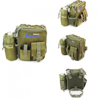 Harga Waterproof Oxford Cloth Fishing Lure Tackle Bag Waist Bag - intl