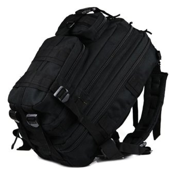 Harga Tas Ransel Tentara Army Camouflage Travel Hiking Bag 24L - Black