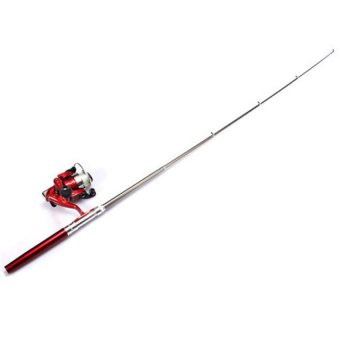 Harga Fishing Rod Mini Portable Telescopic (Red)