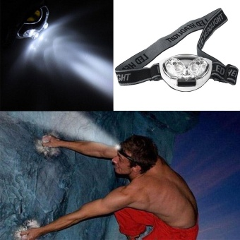 Harga 6LED 3Modes Headlight Headlamp Flashlight Head Lamp Fishing Adjustable - intl