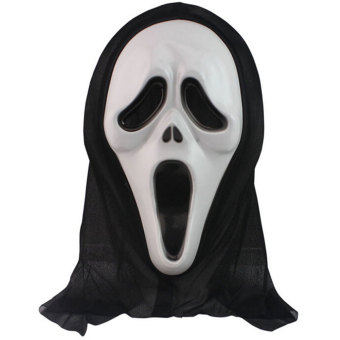 Harga Crazy Ghost Horror Scream Costume Halloween Dress Carnival Cosplay Mask - intl