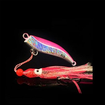 Harga 1PCS Lead Head Squid Jigs Octopus Lead Jig Deep Sea Jigging Fishing Lures Sea Fishing Accessories(Pink) - intl