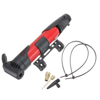 Mini portabel lipat sepeda ban selip bukti Tick udara pompa bola merah - Internasional