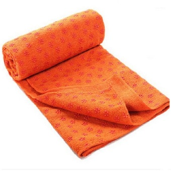 Harga Yoga Towel / Yoga Massage Mat Cover Blankets / Yoga Mat/ Towel Blanket PVC/ Matras Yoga - Orange