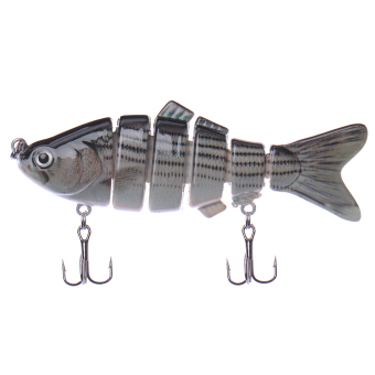 Harga Swimbait 6 Jointed Sections Fishing Lure Crankbait Bass Bait Life-like fish