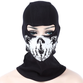 Harga Ghost Skull Full Face Mask Outdoor Cycling Skiing Training Hood Beanie (BS - B - 06)