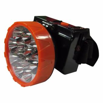 Harga Lanjarjaya Head lamp LED Rechargeable senter kepala hiking camping 12 LED Warna Random