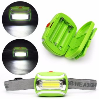 Harga StarJakarta 3 Modes Waterproof LED Headlight Outdoor Head Lamp Headlamp - Hijau