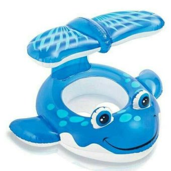 Harga Intex Baby Float with kanopi 56593 / Ban duduk Baby Intex / Ban renang