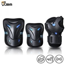 JBM Christmas Gifts Presents Special Multi Sport Protective Gear Knee Pads and Elbow Pads with Wrist Guards for Cycling, Skateboard, Scooter, Bmx, Bike - intl