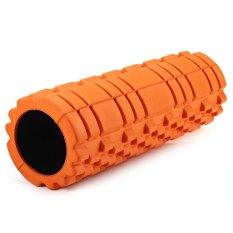 Kebugaran Floating Point EVA Yoga Foam Roller untuk Fisio Pijat Pilates Orange