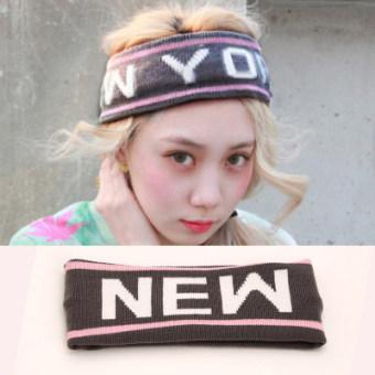REVIEW Kebugaran rajutan wol hip-hop hip-hop surat headset yoga karet rambut MURAH