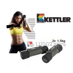 KETTLER Aerobic soft Dumbbell - 3kg/pair (2x 1.5kg) Fitness senam Aerobic Dumbell -0932
