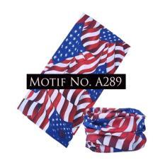 KMBuff Masker Serbaguna Motif Bendera US A289
