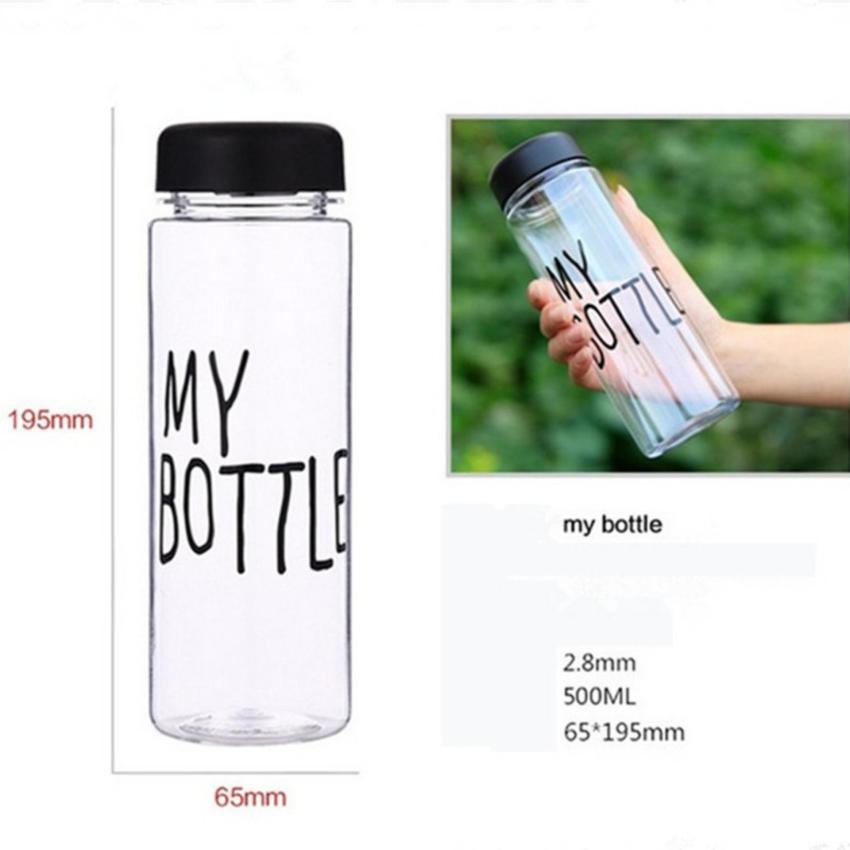 My Bottle NEW CLEAR Botol Warna Warni 500ml BIRU plus TAS Source · 500ml Hitam Daftar