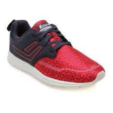 League Vault Zero Lorenz Sepatu Lari Pria - High Risk Red-Nine Iron-Putih