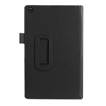 Leather Case Stand Cover For Amazon Fire HD 8 Tablet BK - intl
