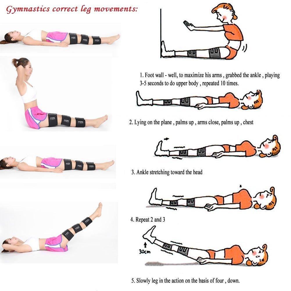 LETSBAY sabuk koreksi otentik perban kaki disesuaikan untuk memperbaiki O - jenis kaki x-jenis