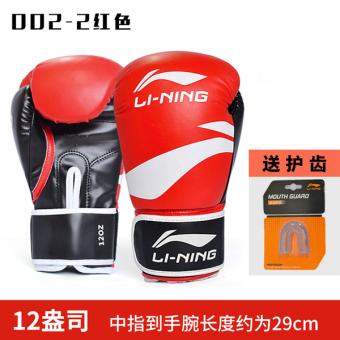 12, LINING Profesional Pelatihan Muay Thai Lebih Tebal Berjuang Sarung Tangan Karung Sansak .