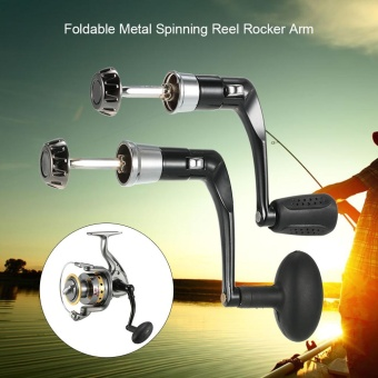 Lixada Metal Fishing Spinning Reel Handle Grip Fishing Reel Handle CNC Fold Handle Rocker Arm -
