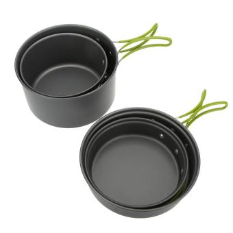 Lixada Portable Outdoor Tableware Camping Cookware 2-3 People Multifunctional Portable Cooking Set for Outdoor Stove - intl - 3