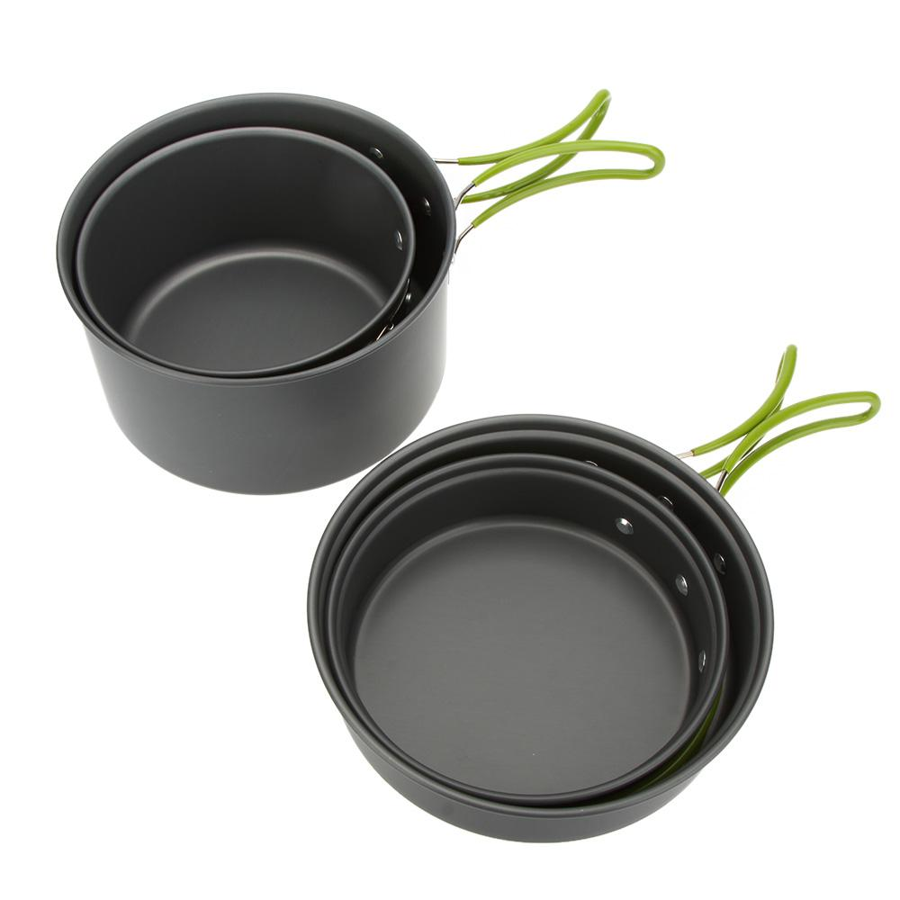 ... Lixada Portable Outdoor Tableware Camping Cookware 2-3 People Multifunctional Portable Cooking Set for Outdoor ...