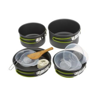 Lixada Portable Outdoor Tableware Camping Cookware 2-3 People Multifunctional Portable Cooking Set for Outdoor Stove - intl - 5